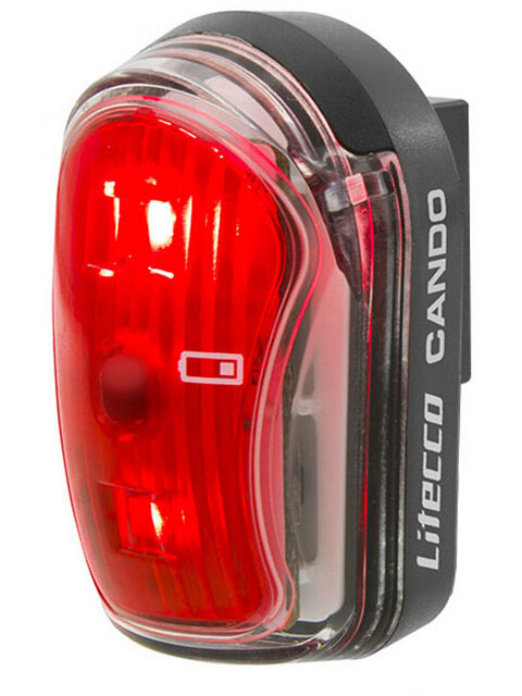 Litecco Cando USB - Luces para bicicleta - rojo/negro